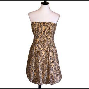 Anthro Pineapple Upside Down Dress Size 12